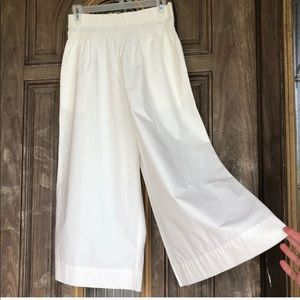 NWOT Madewell Smocked Mayfield Culotte Capri Large